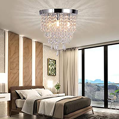 Crystal Chandelier Lighting, Modern Flush Mount...