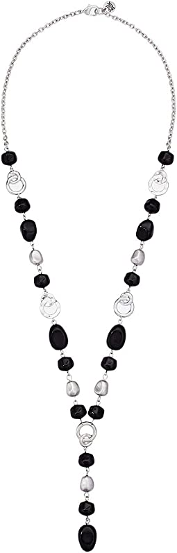 Beaded Knot Y Necklace 26""