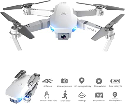 Dron Plegable 4k-4096p HD, con Mantenimiento de altitud ...