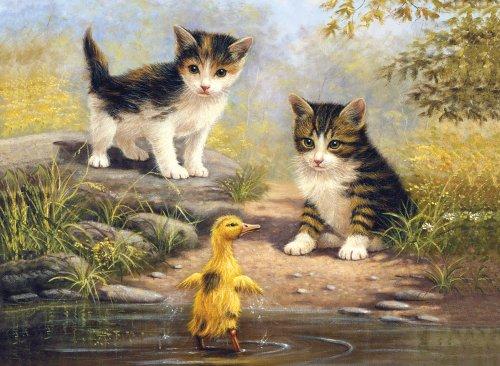 Royal & Langnickel schilderen op cijfers, motief Pond Pals, gedrukt, 28 x 38 cm