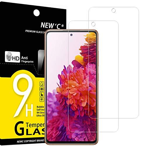 NEW'C 2 Stück, Schutzfolie Panzerglas für Samsung Galaxy S20 FE / S20 FE 5G, Frei von Kratzern, 9H Festigkeit, HD Bildschirmschutzfolie, 0.33mm Ultra-klar, Ultrawiderstandsfähig