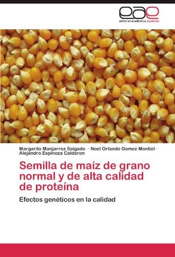 Semilla de Maiz de Grano Normal y de Alta Calidad de Proteina