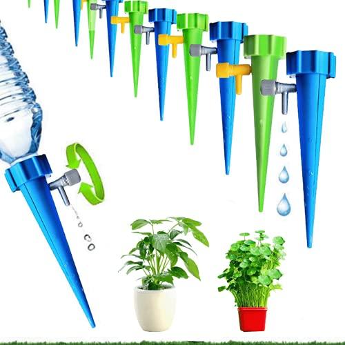 HappyHour 12 Stück Automatisch Bewässerung Set, Wasserspender für Blumen, Instellbar Einfaches Zum Gießen, von Gartenpflanzen Blumen Bewässerung Zimmerpflanzen Pflanzen Bewässerung Urlaub.