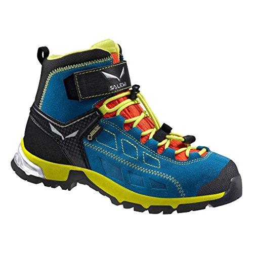 SALEWA Salewa Unisex-Kinder JR Alp Player Mid Gore-TEX Trekking- & Wanderstiefel, Crystal/Citro, 28 EU