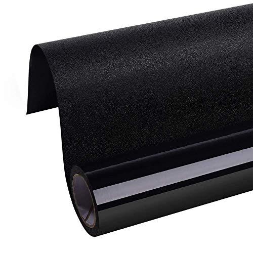 Blackout Total Raamfolie, privacy, verduistering, zwart, afneembaar, 100% lichtblokking 60x100cm