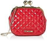 Love Moschino Borsa Quilted Nappa PU, Bolsa de mensajero para Mujer, Rojo (Rosso), 17x19x6 centimeters (W x H x L)