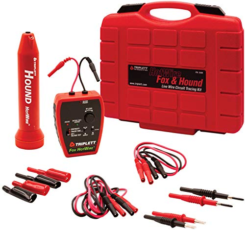 Triplett 3388 Fox & Hound HotWire Live Wire Tone and Probe Wire Tracing Kit with Adjustable Sensitivity - Traces Wires from 0 ~ 250 VAC and up to 1000 ft