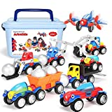 Magnetic Toy Cars Set, Assembly Car Toys with 46 Set, Early Educational