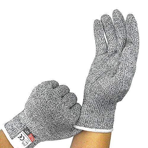 NewTsie Schnittschutzhandschuhe, Schnittfeste Handschuhe, Haushaltshandschuhe, Arbeitshandschuhe - Food Grade und Level 5 Cut Protection, Sicherheit Küche und Outdoor Cut Handschuhe (Large)