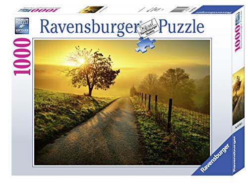 Ravensburger, Puzzle 1000 Pezzi, Le Prime Luci del Mattino, Puzzle per Adulti, Linea Foto & Paesaggi, Relax, Stampa di Alta Qualità, Dimensioni 70x50 cm