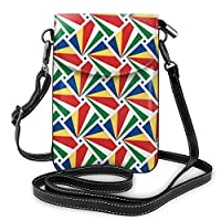 スマホポーチ セイシェルの旗 ミニポシェット ミニバッグ 斜めがけ ミニショルダーバック かわいい 携帯 ケース ミニポーチ 小さめ 多機能 軽量 レディース