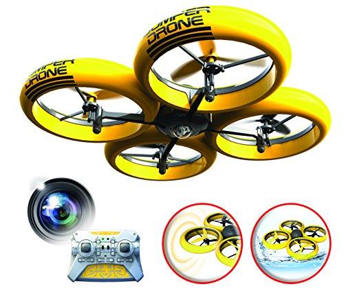 Silverlit Flybotic by Bumper Drone Antiurto con Fotocamera HD 40 cm – Giocattolo Volante – Uso Interno/Esterno – Atterrisce sull\'acqua e può Essere riposto