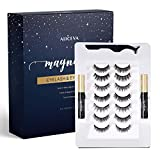 Magnetic Eyeliner and Lashes by Aliceva, Magnetic Eyelashes Kit, 7 Pairs Reusable Magnetic Eyelashes & Magnetic Eyeliner with Tweezers