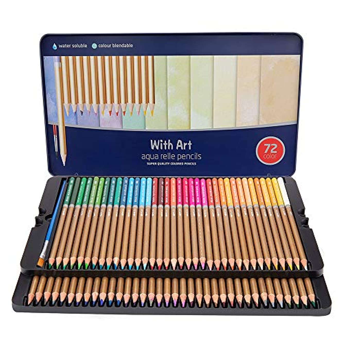 72 Colors Colored Pencils Set- Water Soluble for Adults and Kids
