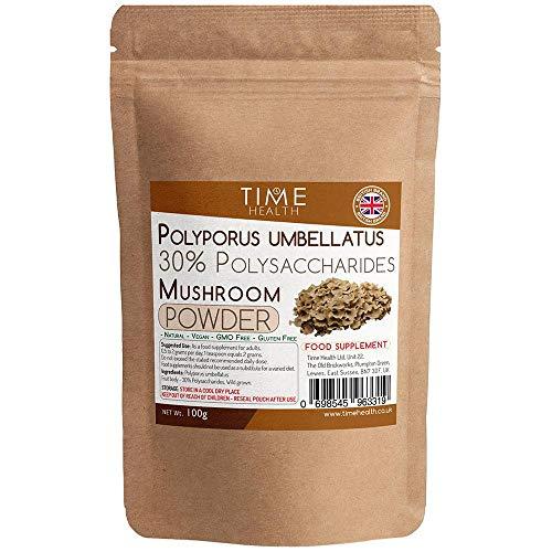 Polyporus Umbellatus (Grifola) Mushroom Extract Powder – 30% Polysaccharides – Fruit Body (100g Powder Pouch)