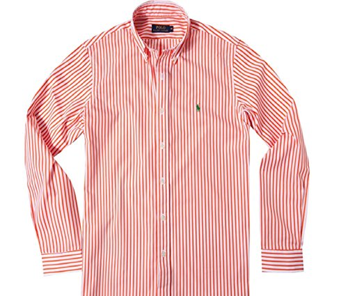 Ralph Lauren CL Purple Label Orange Striped Shirt Size 38/15 U.S.