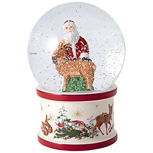 Preisvergleich Produktbild Villeroy & Boch 6 x Christmas Toys Schneekugel groß,  Santa und Hirsch Vorteilsset 6 x Art. Nr. 1483276649 und Gratis 1 Trinitae Körperpflegeprodukt
