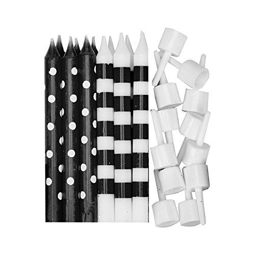 Amscan 9902299 Schwarz abgestufter Farbe Kerzen mit Halter