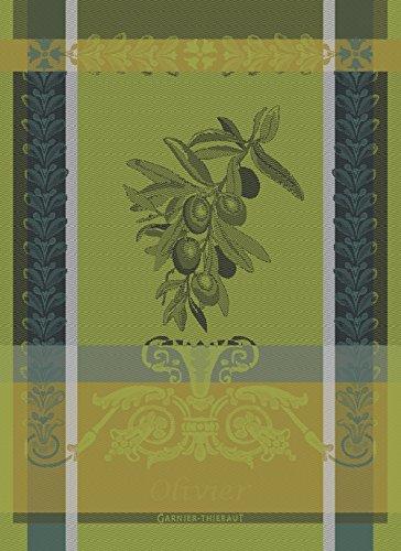 Garnier Thiebaut Geschirrtuch, Baumwolle, Grün diesig, 56x 77cm