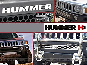 Chrome Front Bumper Letter Inserts for Hummer H3 Not Decals