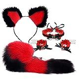 forocean * 5 Piezas Anime Fox Tail y Plush Cat Ear A¨½us Pl¨²g Hạndcǖffs Nightclub para Mujeres Accesorios de Disfraces de Cosplay (Tamaño * S