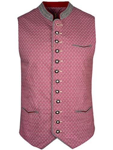 Almsach Trachtenweste Camillo   altrosa grau mit Muster   frische Farbe   edles Gilet   modern (46)