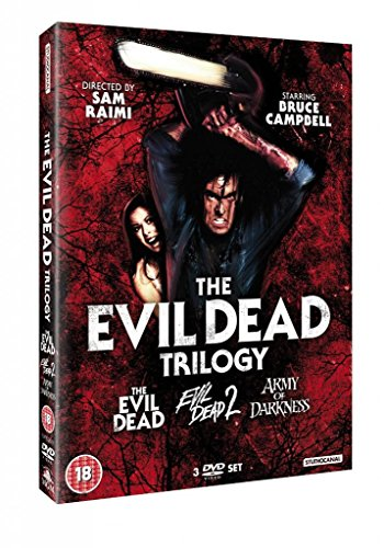 Evil Dead Complete All Movie Film DVD Trilogy Collection [3 Discs] Box set: Part 1, Part 2: Dead By Dawn, Part 3: Army of Darkness + Extras