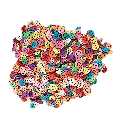 1000 fogli 3D Nail Art Sticker Smile Pattern Polimero Adesivi decorativi fai da te per donne ragazze