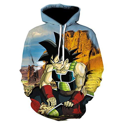 cyxb Camiseta Otoo Invierno Chndal,Sudadera con Capucha de Anime japons Dragon Ball Goku Saiyan Cool Loose para Hombre-2_L