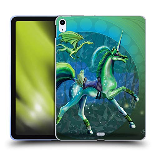 Official Rose Khan Green Summer Unicorns Soft Gel Case Compatible for Apple iPad Air (2020)