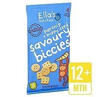 (Ella's Kitchen (エラのキッチン)) パースニップ&ケシ香ばしいBiccies 4×20グラム (x2) - Ella's Kitchen Parsnip & Poppyseed Savoury Biccies 4 x 20g (Pack of 2) [並行輸入品]