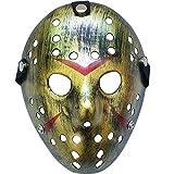 Boolavard Horror Halloween Costume Hockey Mask Party Puntelli Cosplay Maschera (Oro)