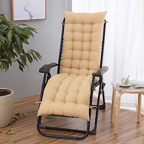 XGXSDPZ Cojín reclinable de escritorio para jardín, terraza, sillón reclinable (color: beige (2 tamaños), tamaño: 170 x 48 cm)