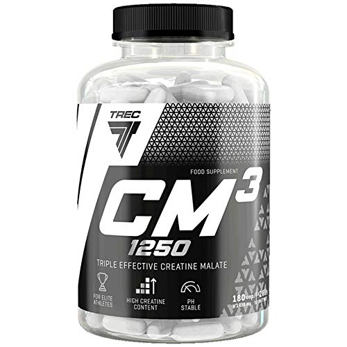 CM3 180 Capsules | Tri-Creatine Malate | Lean Muscle Mass Growth | Anabolic Pills | Sport Supplement | Recovery | Regeneration