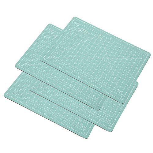 4 pièces A5 tapis de découpe de papier, tapis auto-cicatrisant vert menthe, planche à découper pour le scrapbooking, la courtepointe, la couture et tous les projets d
