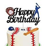 Baseball Theme Cake Topper - Happy Birthday Cake Topper for Birthday /...