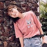 Frauen Sommer T-Shirt - O-Neck/V-Neck - Fashion Print Kurzarm Casual T-Shirt Tunika, Bluse Top, T-Shirt Bluse, Good dress -
