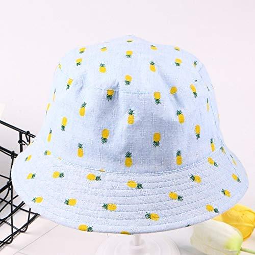 ERCZYO 2020 Nuevo Sombrero pequeño Sombrero de Sol al Aire Libre Linda impresión de piña Fresca (Color : Light Blue, Size : L)