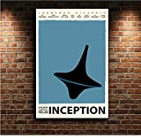 yhnjikl Inception Minimal Movie Leinwand Poster Wand