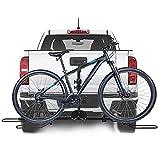 MATHOWAL 2 Portabicicletas trasero para coche, Portabicicletas para Portón Trasero Accesories Plegable Portabicicletas Trasero Universal, 5.9 '' de largo, carga máxima de 88 lb