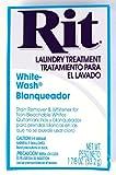 Rit Dye Laundry Treatment White-wash Stain Remover and Whitener Powder, 1-7/8 oz, White, 10-Pack