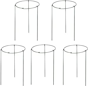 Hanobo 5 Pack Garden Plant Support Rings for Potted Plant, 9.8