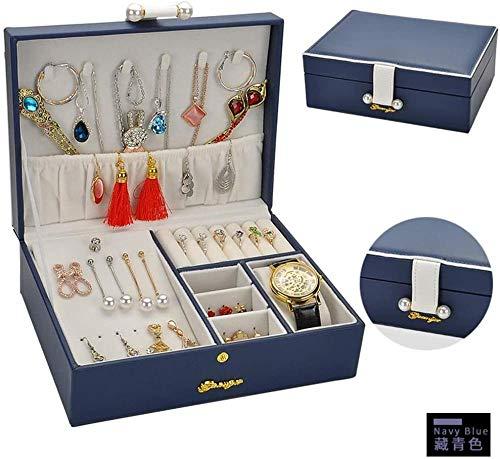 Joyero multifuncional organizador de joyas de colección de relojes, caja de almacenamiento para joyas, caja de almacenamiento para niñas, mujeres, madres, hijas