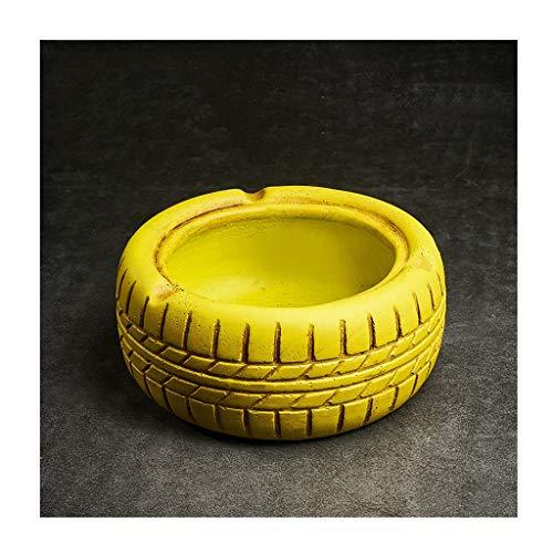 Ceniceros Neumáticos de cemento Vintage cenicero, cigarros cenicero, estilo industrial, de personalidad, de oficina, bar, café, decoración, regalos, verde, negro, rojo, amarillo Ceniceros portátiles