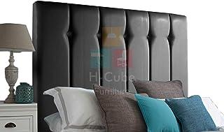 H-Cube meble tapicerowane sztuczna skóra łóżko łóżko łóżko podstawa zagłówek dopasowanie/diamentowe guziki 10 cm seria mon...