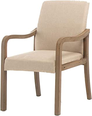 Amazon.com: Stanley WEATHERED Tufted tela beige. Arm Chair ...