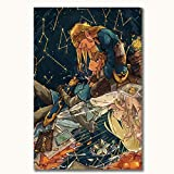 The Starry Night 1889 by Vincent Van Gogh Modern Nature Artwork Zelda The Starry Night Wall Art Poster Prints 24' x 36' Modern Home Decor Painting, Unframed