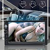 TOTMOX 2 DIN 7 Pollici Bluetooth Lettore MP5 Stereo per Auto, Schermo Multi-touch 1080P Auto Radio FM Android Telefono Collegamento a Specchio Lettore MP5 con USB/EQ/AUX e Telecamera per Retromarcia