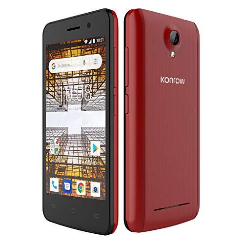 bon comparatif Smartphone déverrouillé Konrow City (4 pouces, 8 Go, 1 Go de RAM, double SIM, Android 8.1) rouge un avis de 2021