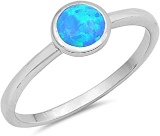 CHOOSE YOUR COLOR Sterling Silver Round Ring